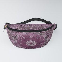 Vintage Merlot Lace Mandala Fanny Pack