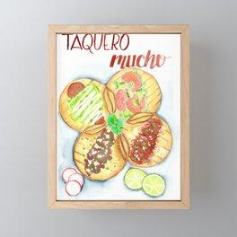 Taquero Mucho Framed Mini Art Print