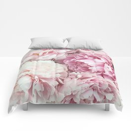 A bunch of peonies Comforters
