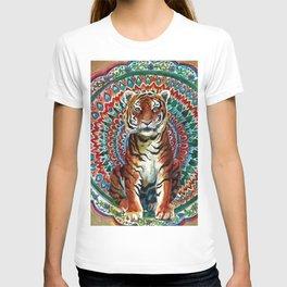 Tiger Watercolor Yoga Mandala T-shirt