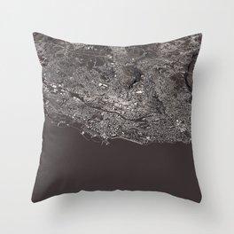 Lausanne - city map Throw Pillow