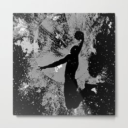 SLAM DUNK IN BLACK AND WHITE Metal Print