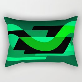 SUISSE - Art Deco Modern: NIGHT VISION Rectangular Pillow
