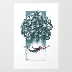 Falling Shepard Art Print