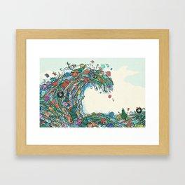 Christmas Tidal Wave Framed Art Print