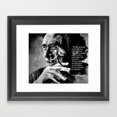 Charles Bukowski - black - quote Framed Art Print