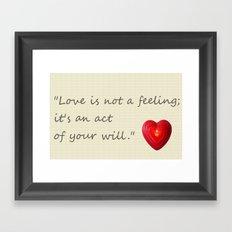 love is.. Framed Art Print