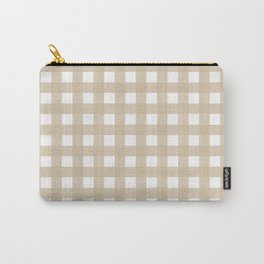 Farmhouse Gingham in Burlap Carry-All Pouch