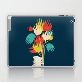 Hedgehog with flowers Laptop & iPad Skin