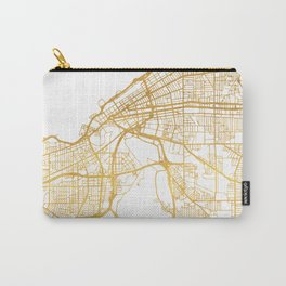 CLEVELAND OHIO CITY STREET MAP ART Carry-All Pouch