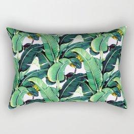 Tropical Banana leaves pattern Rectangular Pillow