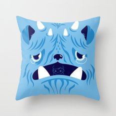 The Bluest Monster Ever :(( Throw Pillow