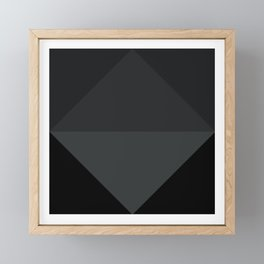 Simply Black on Black Framed Mini Art Print