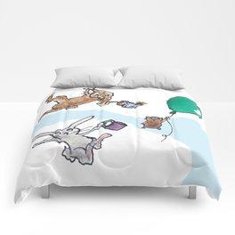 Flying Pig Tea Party Comforters