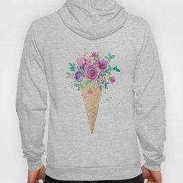 Flower bouquet ice cream cone Hoody