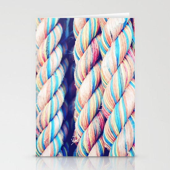 Rainbow Rope Stationery Cards