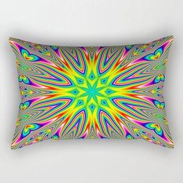 Psychedelic Rainbow Kaleidoscope Rectangular Pillow