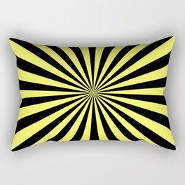 Starburst (Black & Yellow Pattern) Rectangular Pillow