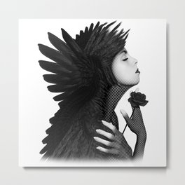 Eloa - Angel Of Sorrow & Compassion Angel Art Metal Print