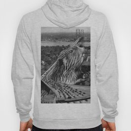 San Francisco Giant Kaiju Earthquake  - Vintage Collage Hoody