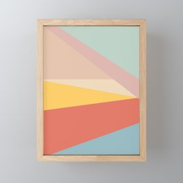 Retro Abstract Geometric Framed Mini Art Print