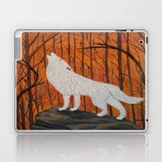 white wolf in the sunset Laptop & iPad Skin