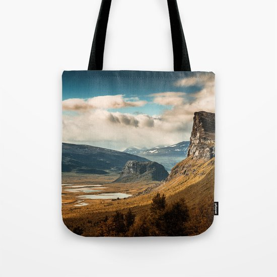 Brown Mountain Tote Bag