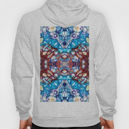 Blue, Red and Purple Abstract Design Hoody