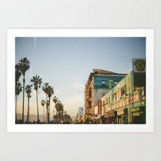 Venice Beach Boardwalk Art Print