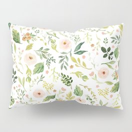 Botanical Spring Flowers Pillow Sham
