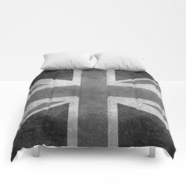 British Union Jack flag 1:2 scale retro grunge Comforters
