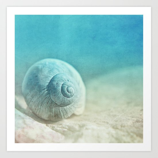 APRICOTEE | Blue version Art Print
