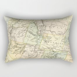 Vintage Map of the West Of The United States Rectangular Pillow