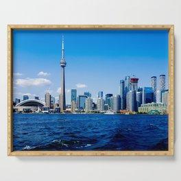 Skyline Toronto Waterfront Daytime Serving Tray