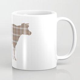 Cow: Brown Plaid Coffee Mug