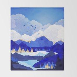 Blue Lake Throw Blanket