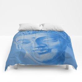 Siddharta Gautama blue Comforters