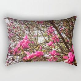 Tulip Trees (Spring in Portland) Rectangular Pillow