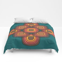 Fire Pit Pebbles on deep green Comforters