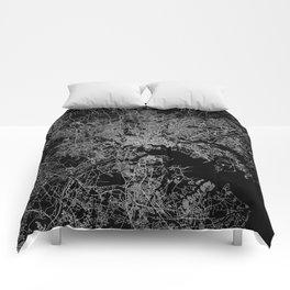 Baltimore map Maryland Comforters