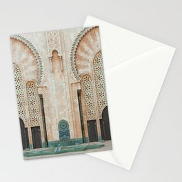 Mosque Hassan II in Casablanca, Morocco Stationery Cards