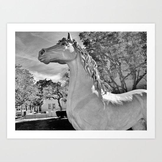 Magick horse Art Print