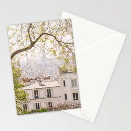 Paris city from Montmartre Stationery Cards