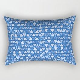 Triangle Watercolor Seamless repeating Pattern - Deep Blue Rectangular Pillow