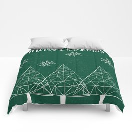 Merry Christmas Green Comforters