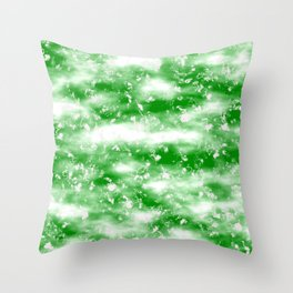Clouds In Green Sky Throw Pillow