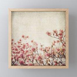 Vintage-Inspired Pink Magnolia Framed Mini Art Print