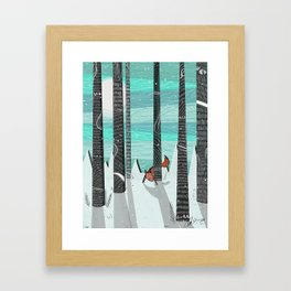 Adventures is Out there - Red Fox Framed Art Print