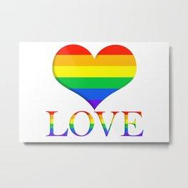Pride Heart and Love Minimalist Art Metal Print