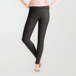 Solid Black Cow Color Leggings